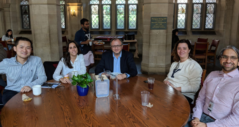Lunch in Hopper College, the residential college w