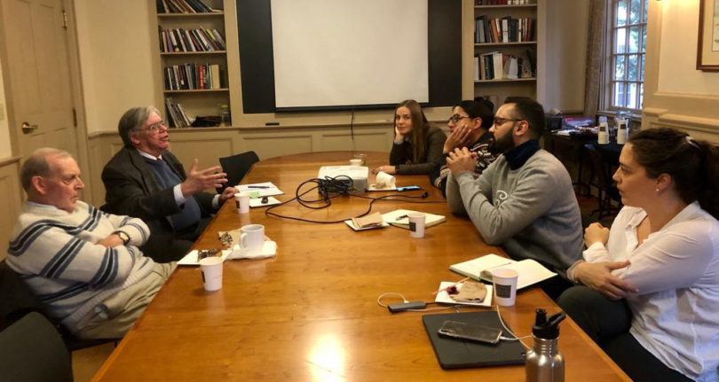 Meeting with Yale professors and other Fellows